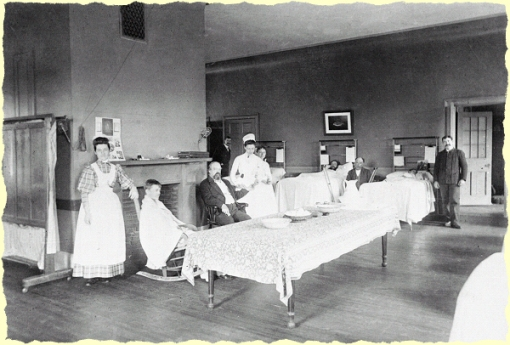 Ward at Massachusetts General Hospital, 1870s(?)